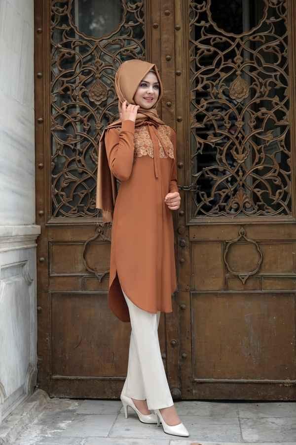 En Güzel ve Şık Pınar Şems Tesettür Tunik Modelleri