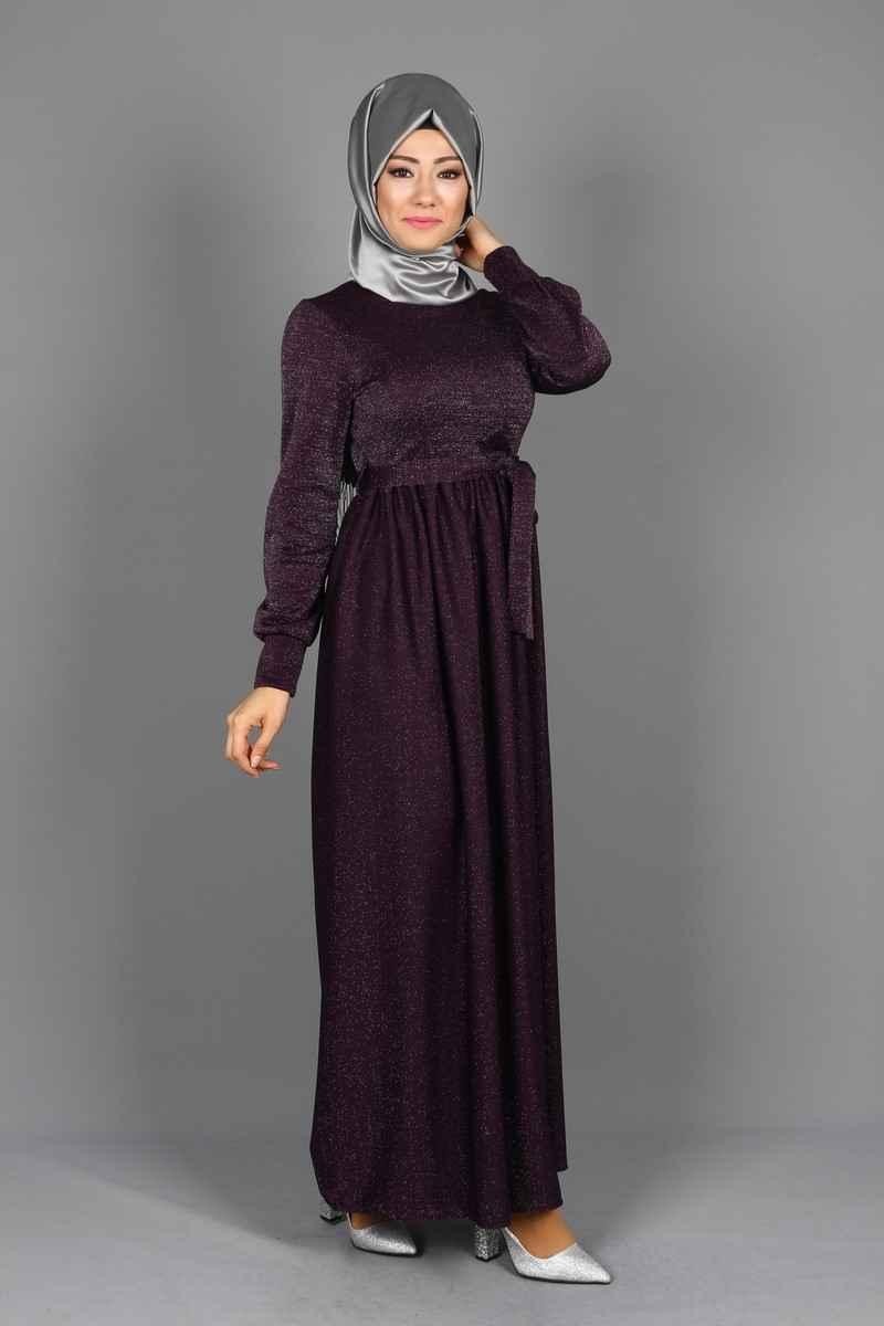 Eymina Büzgülü Tesettür Elbise Modelleri