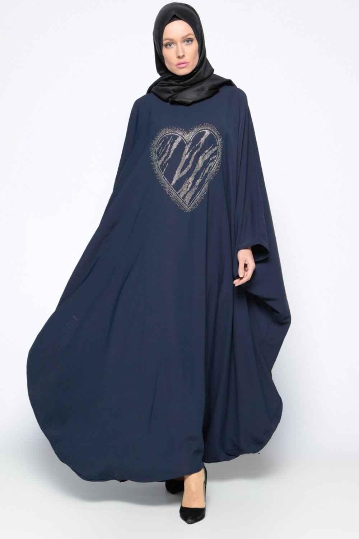 Filizzade Drop Baskılı Tesettür Ferace Elbise Modelleri