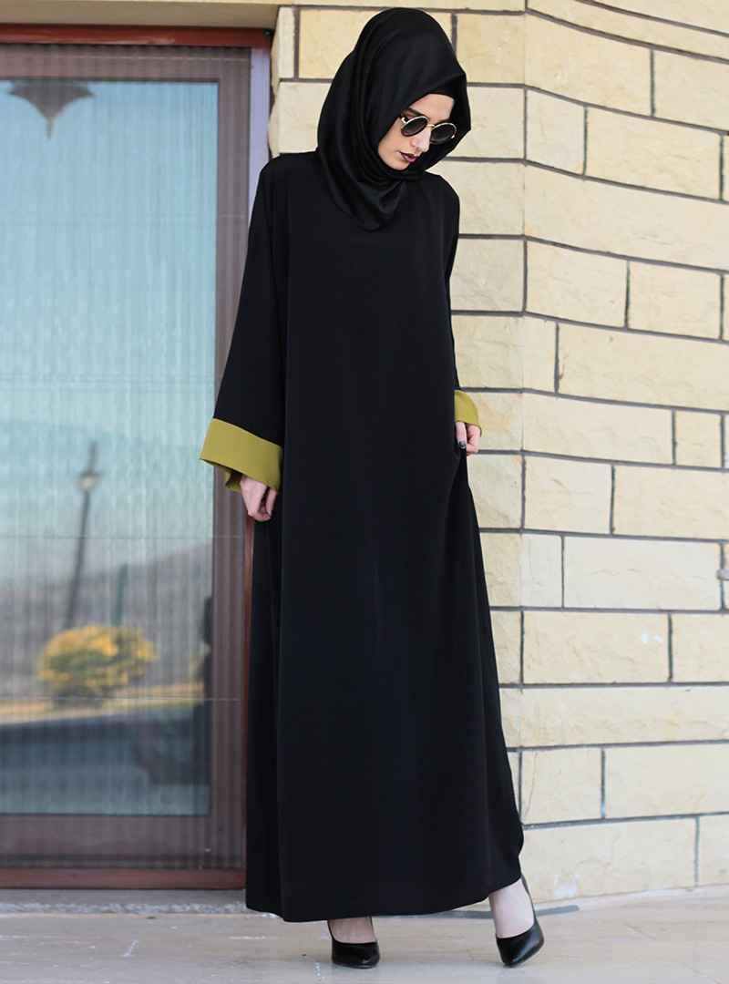 Gabra Tesettür Siyah Ferace Elbise Modelleri