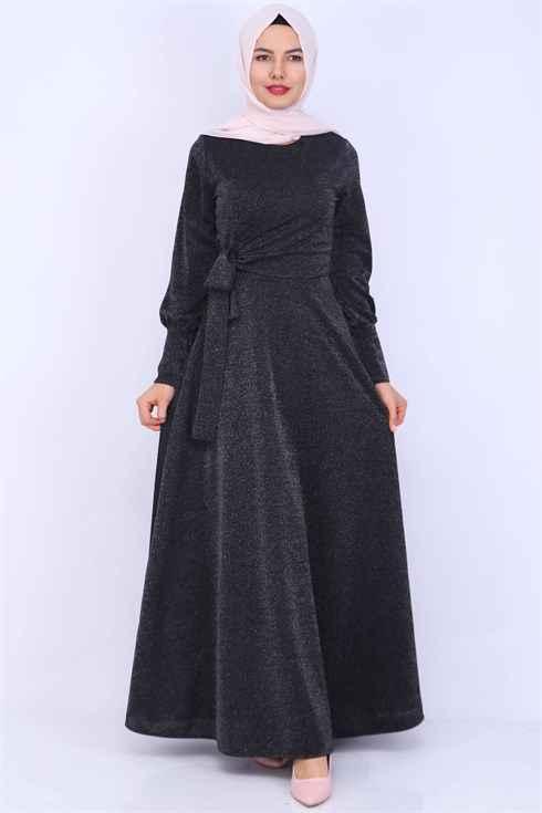 Moda Periy Simli Tesettür Elbise Modelleri