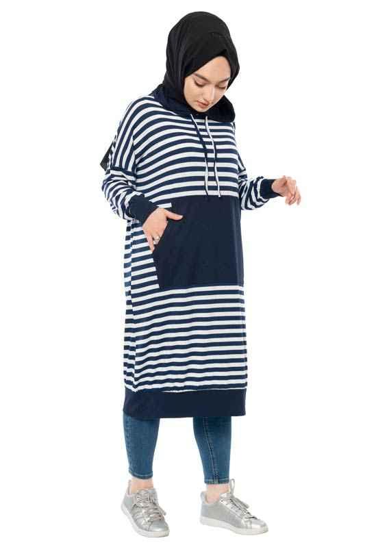 Moda Pinhan Kapşonlu Tesettür Tunik Modelleri
