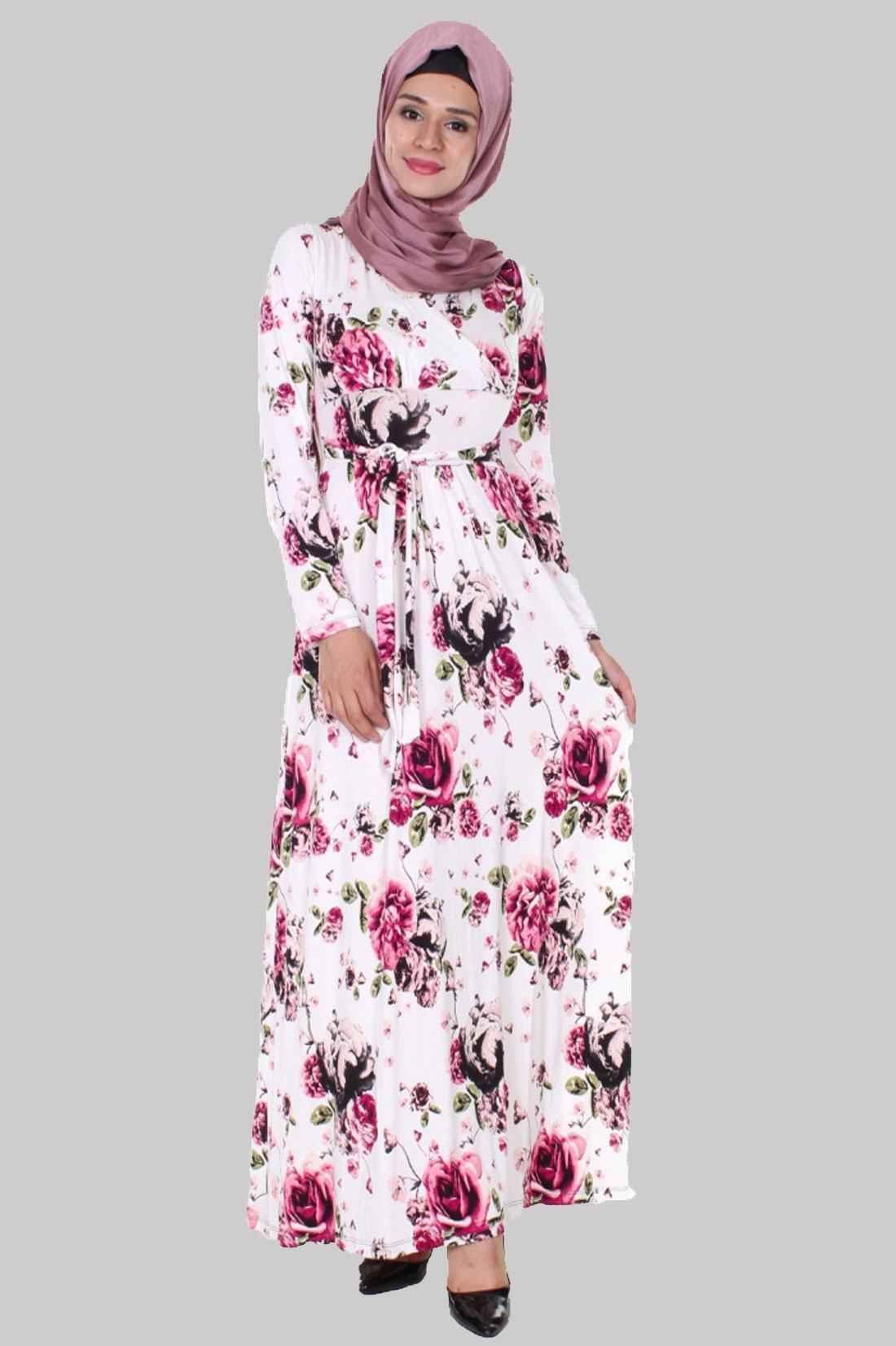 Moda Royal Desenli Tesettür Elbise Modelleri