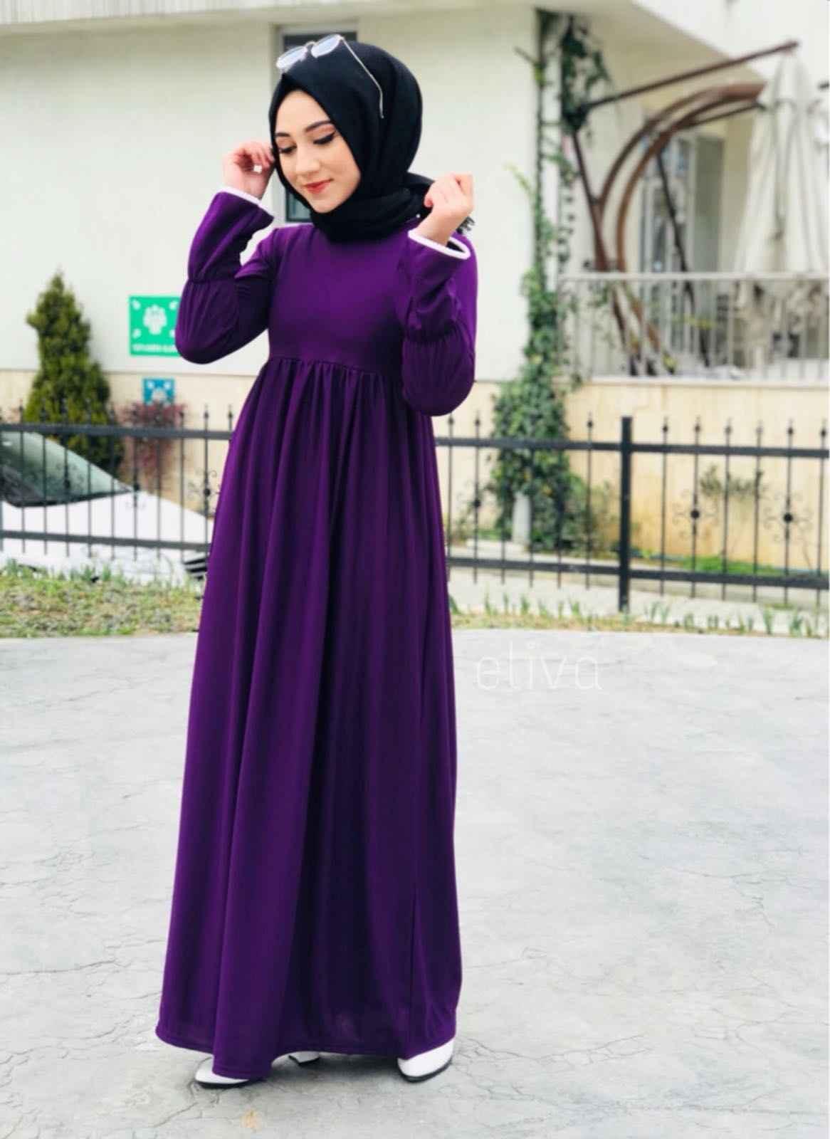 ModaOnur Büzgülü Tesettür Elbise Modelleri