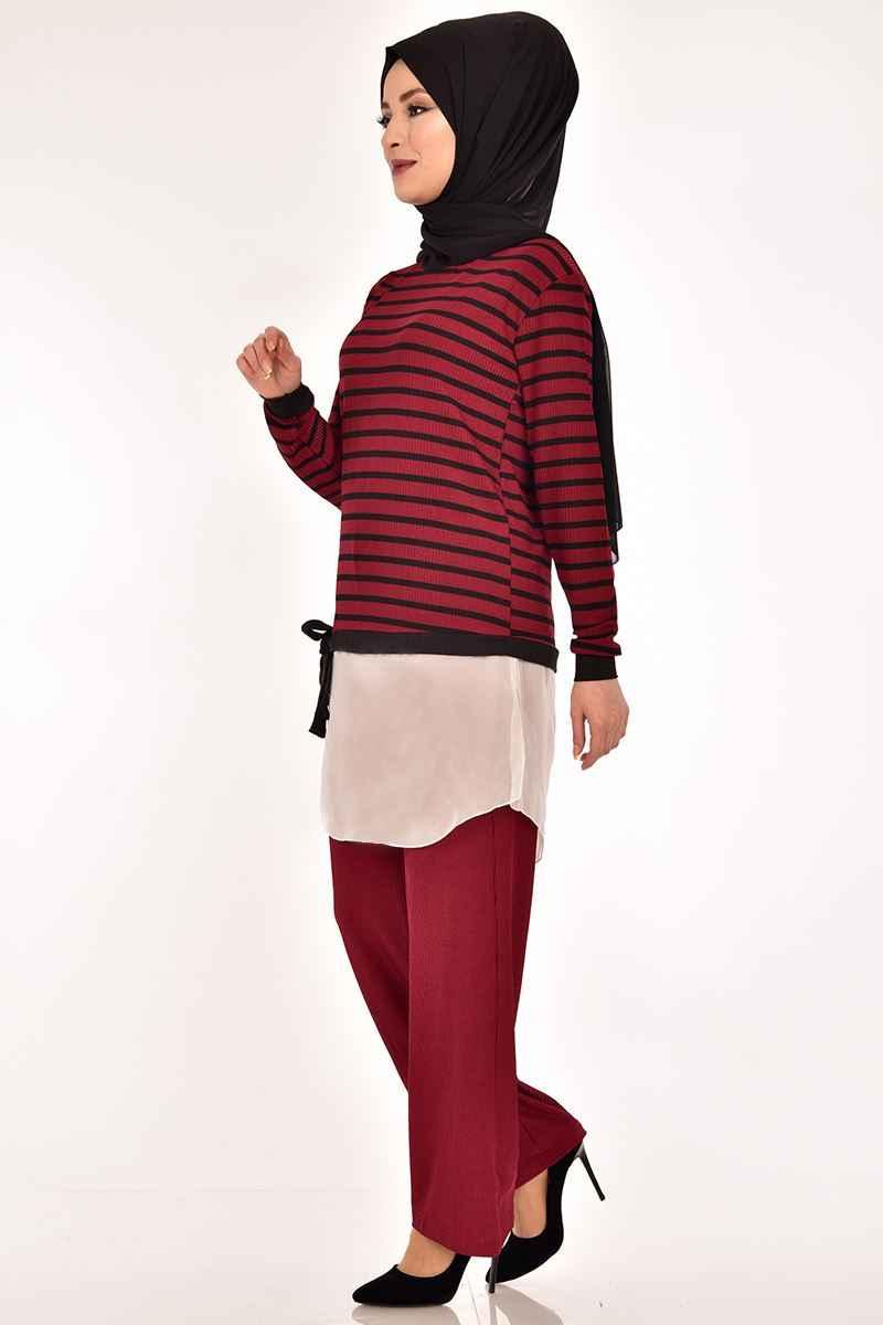 Modamerve Çizgili Tesettür Tunik Modelleri