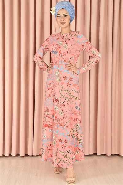 Modamerve Şık Desenli Tesettür Elbise Modelleri