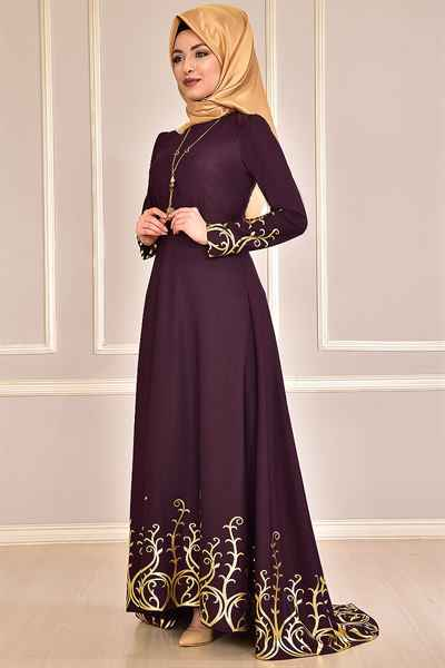 Modamerve En Güzel Tesettür Elbise Modelleri