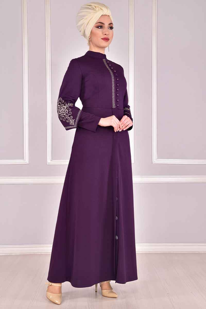 Modamerve Tesettür Ferace Elbise Modelleri