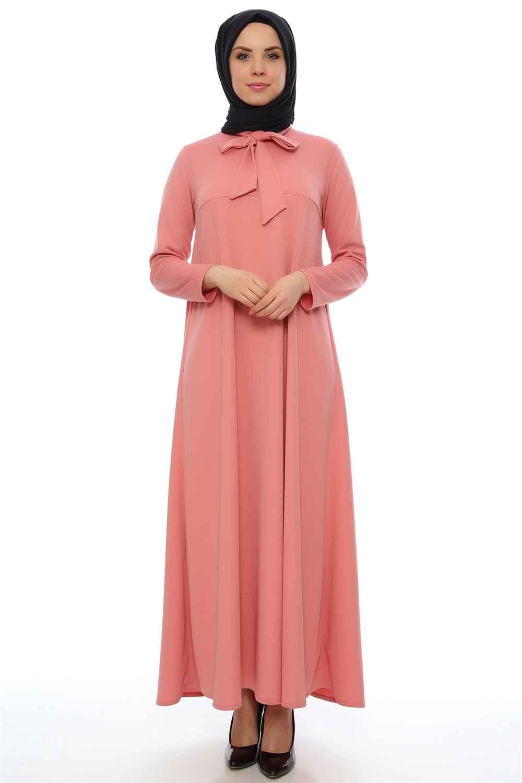 Modaperiy Fular Detaylı Tesettür Elbise Modelleri
