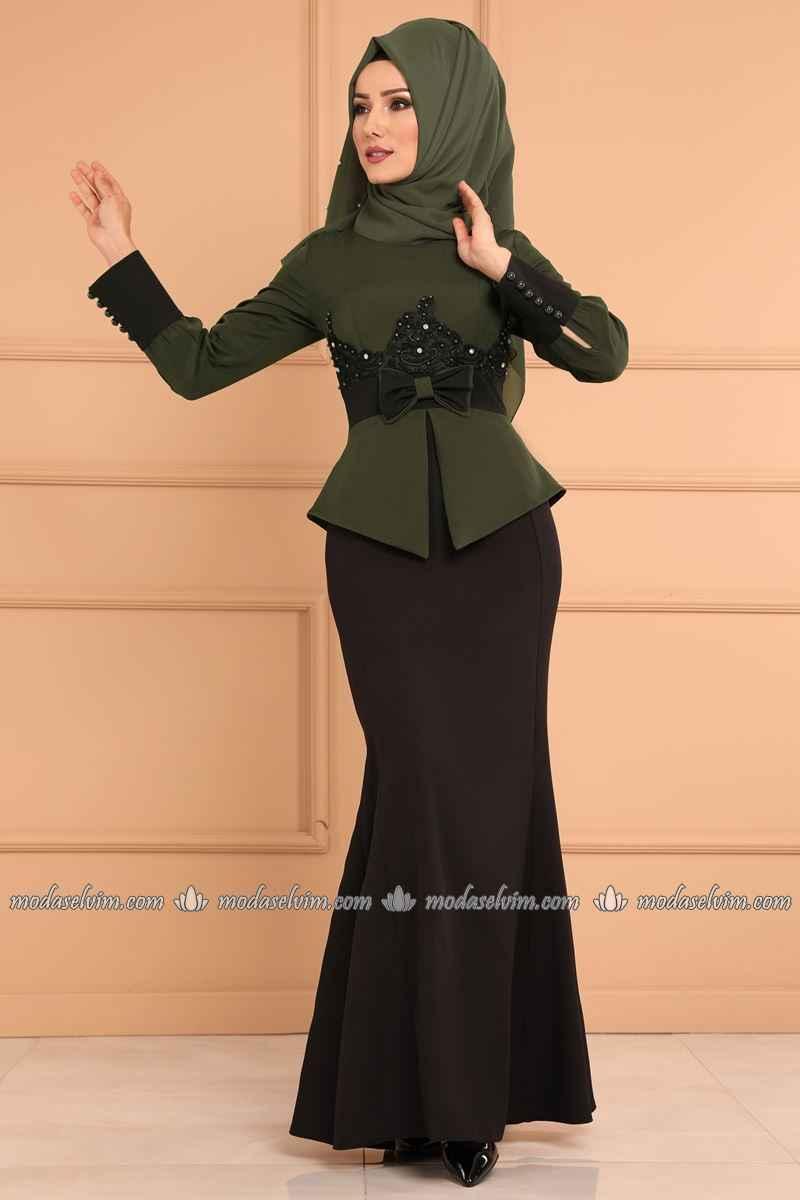 Modaselvim Ceket Görünümlü Tesettür Abiye Modelleri