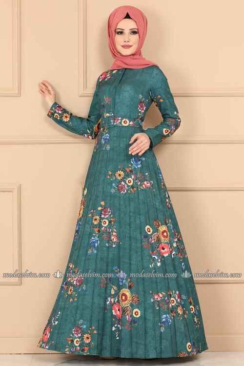 Modaselvim En Güzel Tesettür Elbise Modelleri