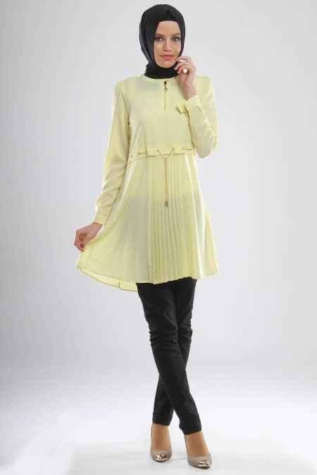 Modesty Pileli Tesettür Tunik Modelleri