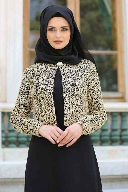 Nayla Collection Ceket Görünümlü Tesettür Abiye Modelleri