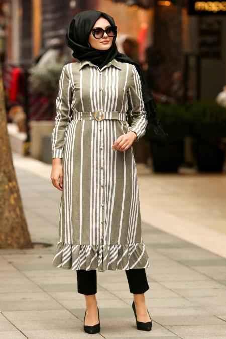 Nayla Collection En Güzel Kemerli Tesettür Tunik Modelleri