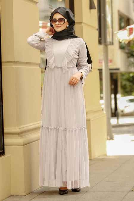 Nayla Collection Fırfırlı Tesettür Elbise Modelleri