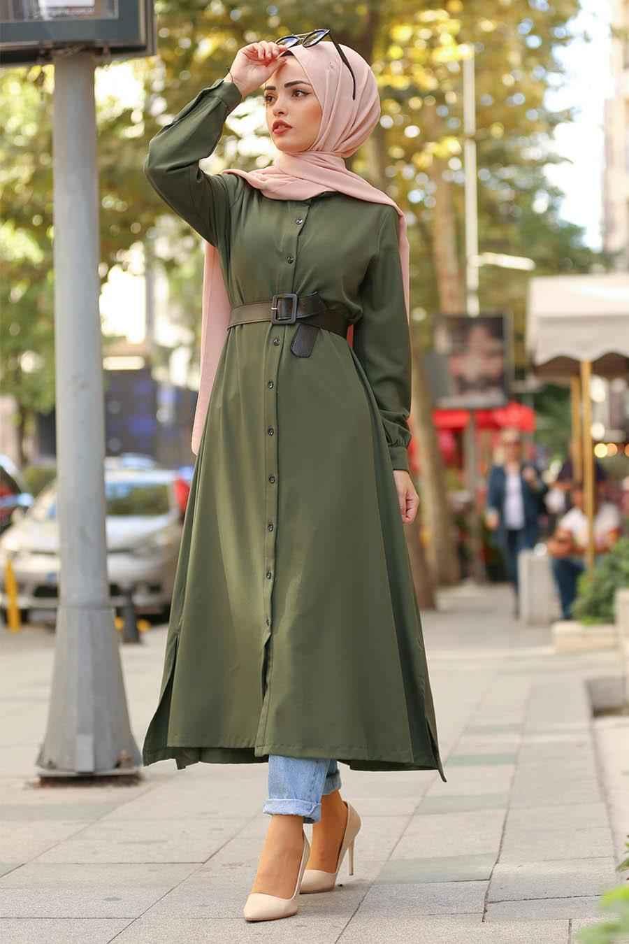 Nayla Collection Kemerli Şık Tesettür Tunik Modelleri