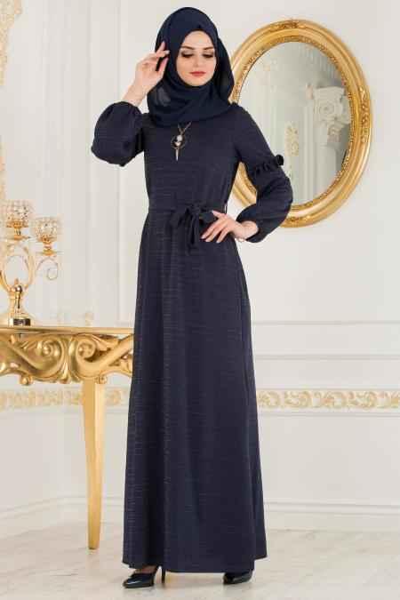 Nayla Collection Simli Tesettür Elbise Modelleri