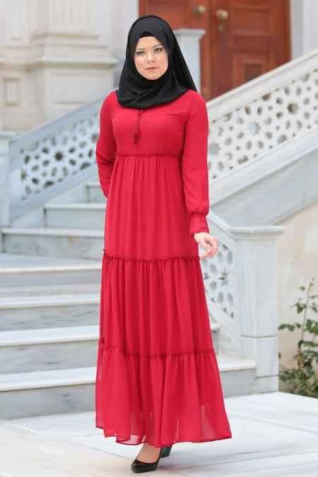 Neva Style Büzgülü Tesettür Elbise Modelleri