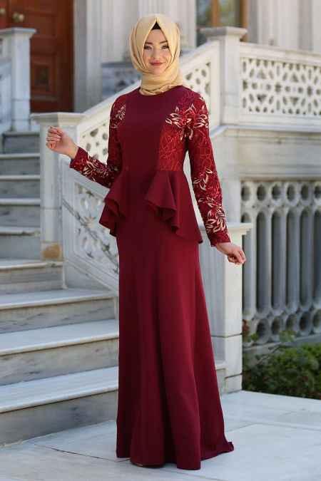 Neva Style Ceket Görünümlü Tesettür Abiye Modelleri