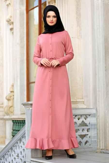 Neva Style Fırfırlı Tesettür Elbise Modelleri