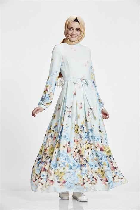 Nihan En Güzel Tesettür Elbise Modelleri