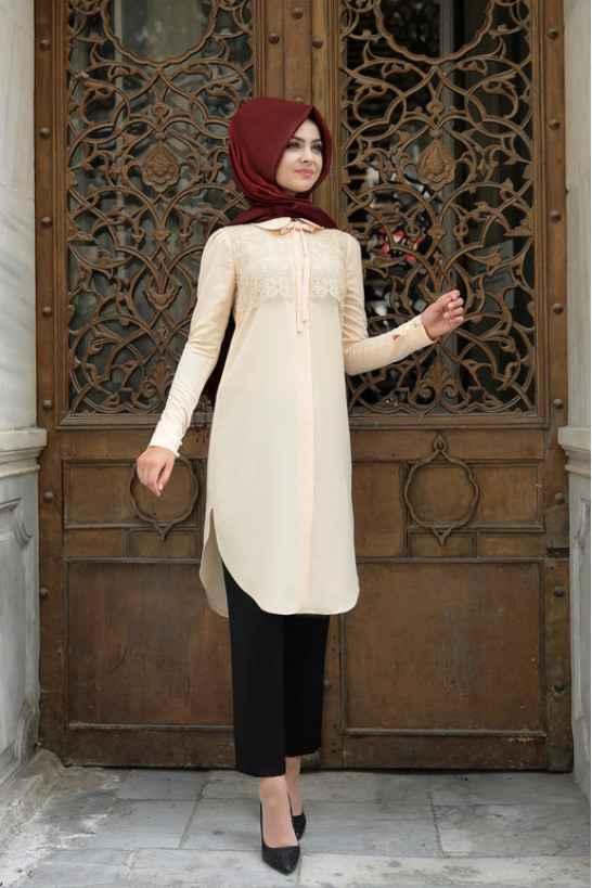 Pınar Şems En Şık Tesettür Tunik Modelleri