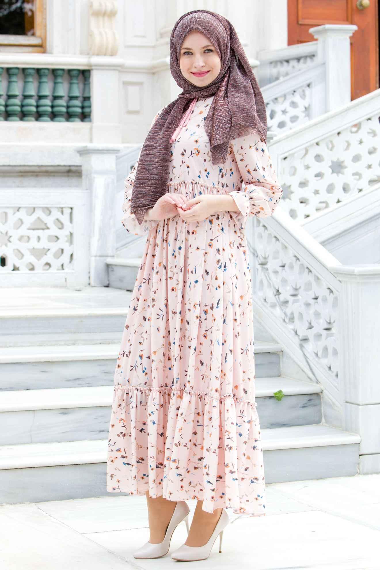 Sedanur En Güzel Tesettür Elbise Modelleri