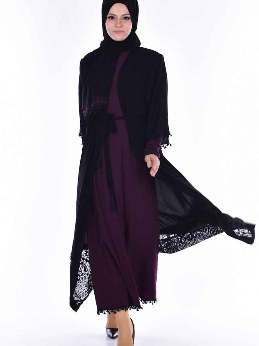 Sefamerve Elbiseli Tesettür 3 lü Takım Modelleri