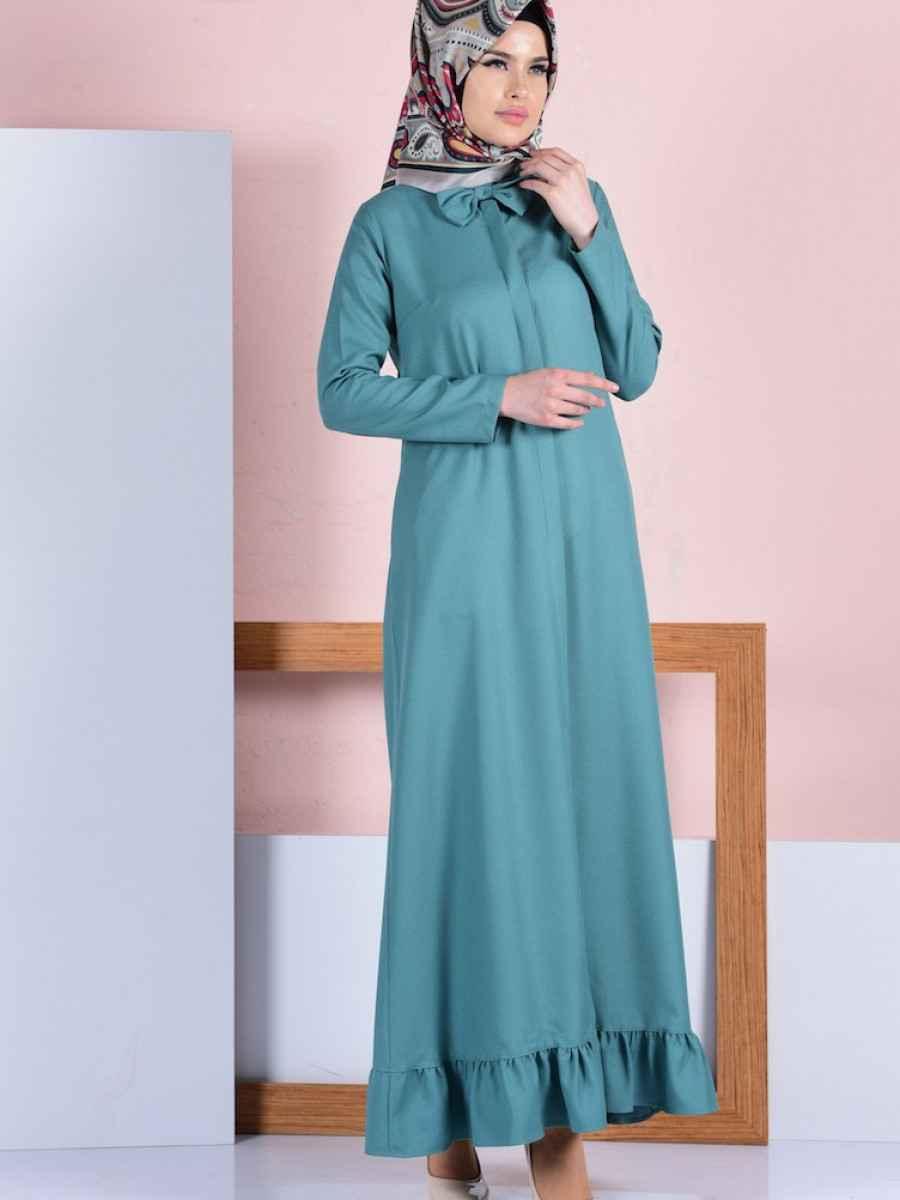 Sefamerve Fırfırlı Tesettür Elbise Modelleri