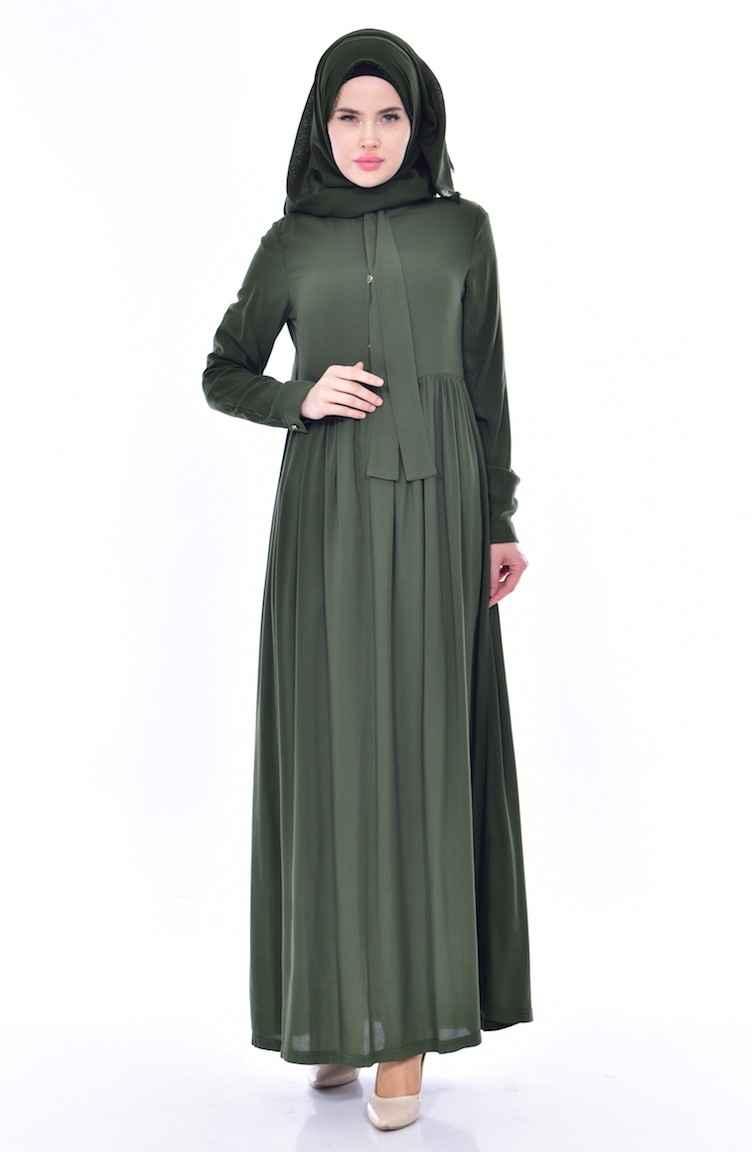 Sefamerve Fular Detaylı Tesettür Elbise Modelleri