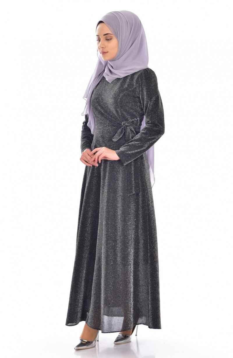 Sefamerve Simli Şık Tesettür Elbise Modelleri