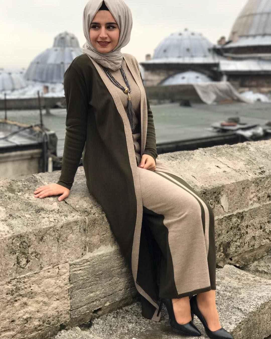 Tekten Fashion Elbiseli Tesettür Takım Modelleri