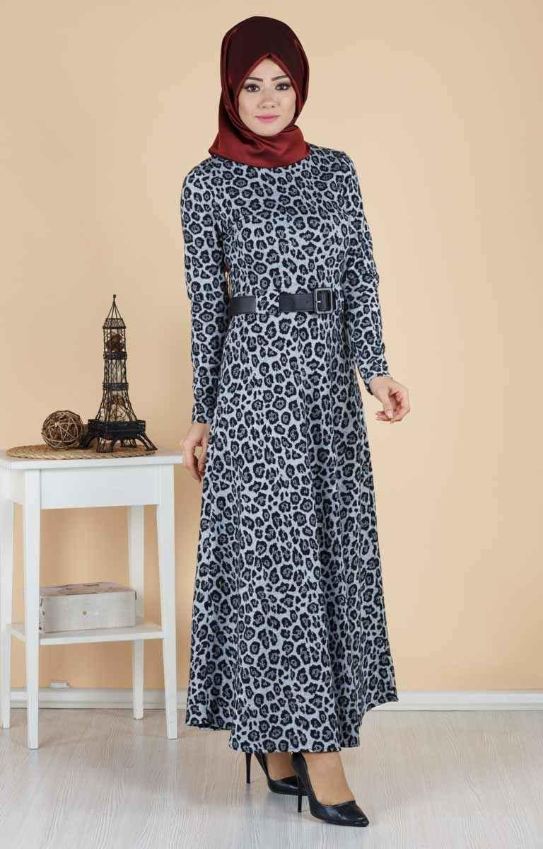 Tesettür Pazarı Desenli Elbise Modelleri