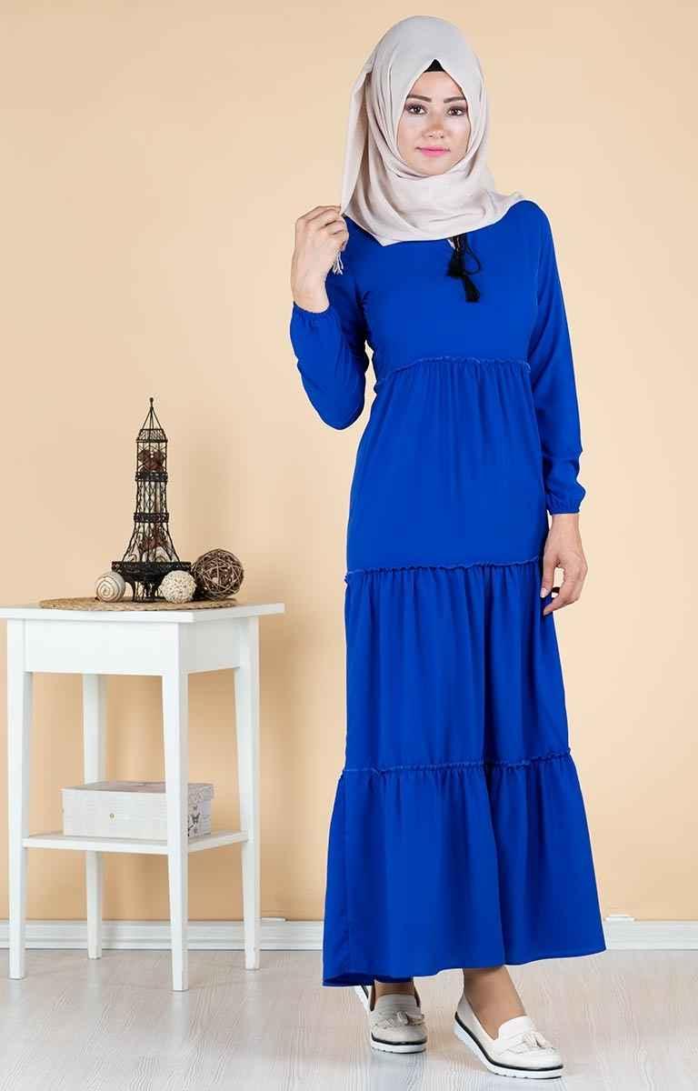 Tesettür Pazarı Fırfırlı Elbise Modelleri