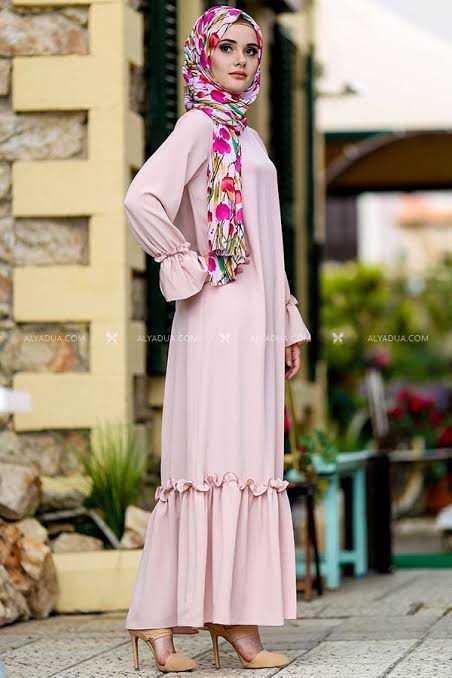 Alyadua Günlük Tesettür Elbise Modelleri