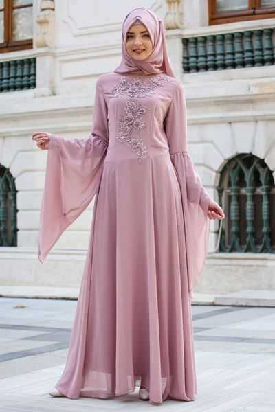 En Özel Sedanur Tesettür Abiye Elbise Modelleri