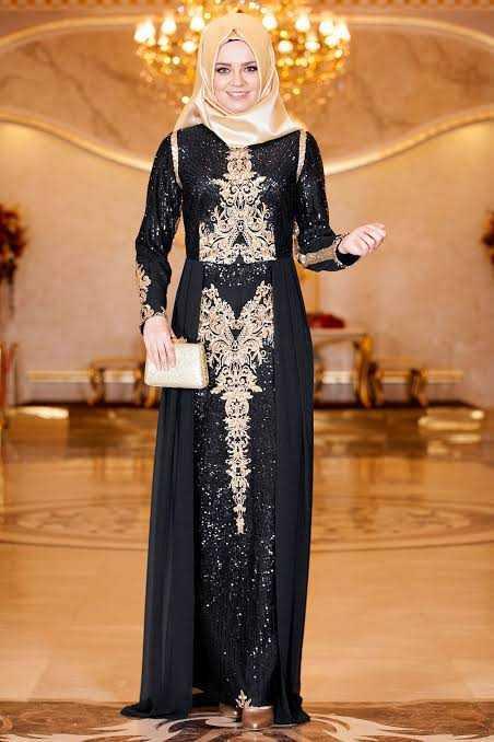 En Güzel Sedanur Tesettür Abiye Elbise Modelleri