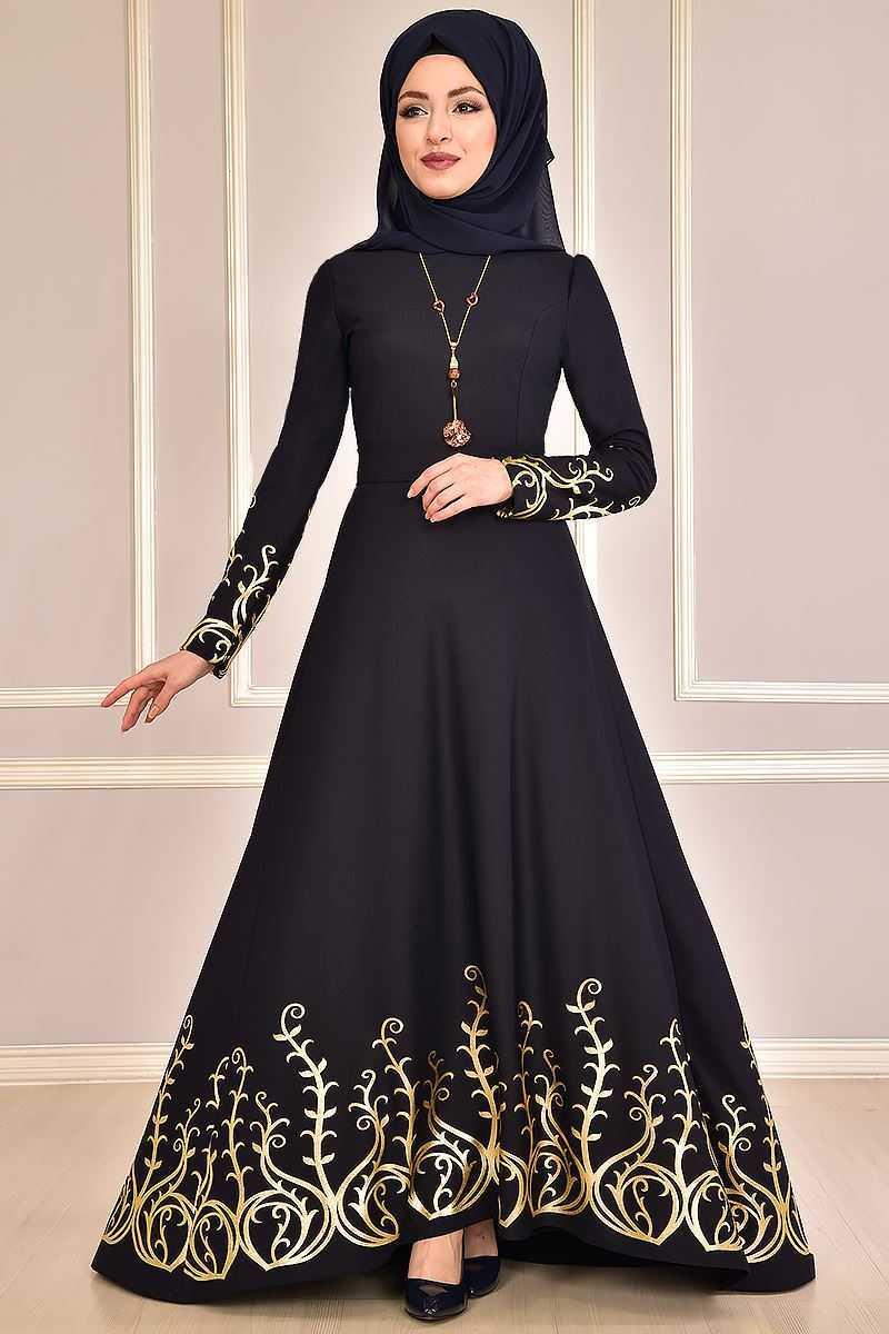 Modamerve Varaklı Tesettür Abiye Elbise Modelleri