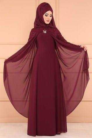 Modaselvim Pelerinli Tesettür Abiye Elbise Modelleri
