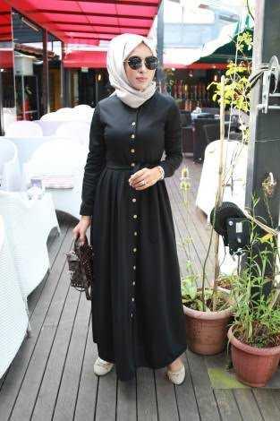 Modasena Günlük Tesettür Elbise Modelleri