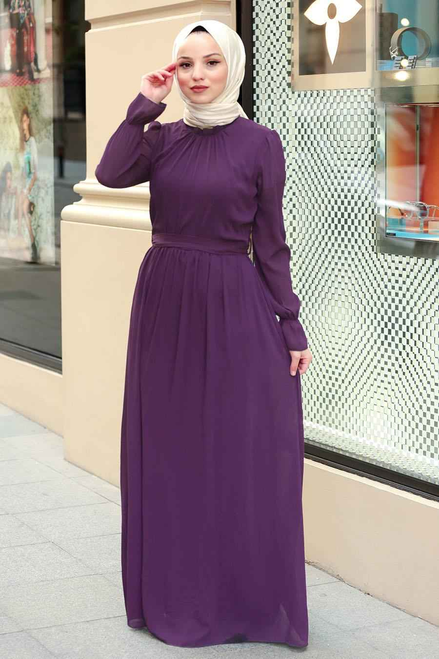 Nayla Collection Kuşaklı Tesettür Elbise Modelleri