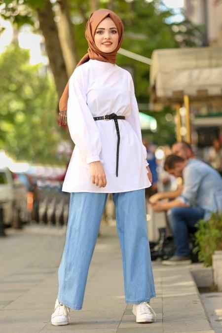 Nayla Collection Tesettür Kot Pantolon Kombinleri