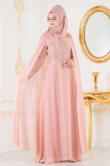 Neva Style Şık Pelerinli Tesettür Abiye Elbise Modelleri