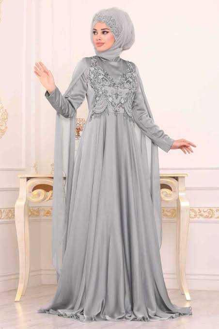 Neva Style Pelerinli Tesettür Abiye Elbise Modelleri
