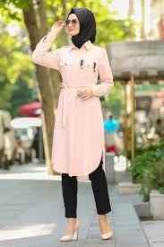 Neva Style Tesettür Somon Renk Tunik Modası