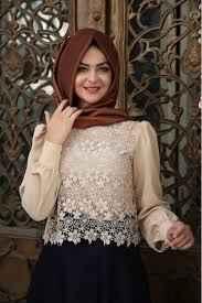 Pınar Şems En Güzel Tesettür Dantelli Gömlek Modelleri