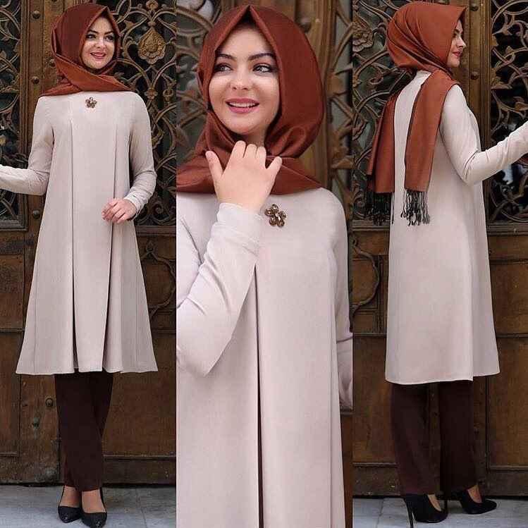 Pınar Şems Taş İşlemeli Tesettür Tunik Modelleri