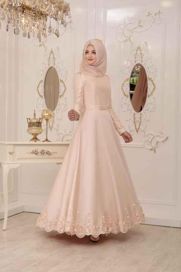 Pınar Şems Tesettür Somon Renk Kıyafet Modası