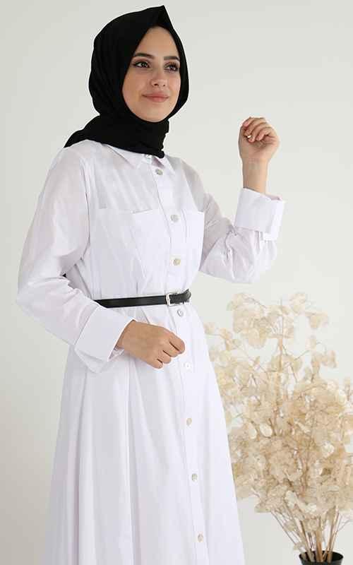 Sahranur En Güzel Tesettür Gömlek Modelleri