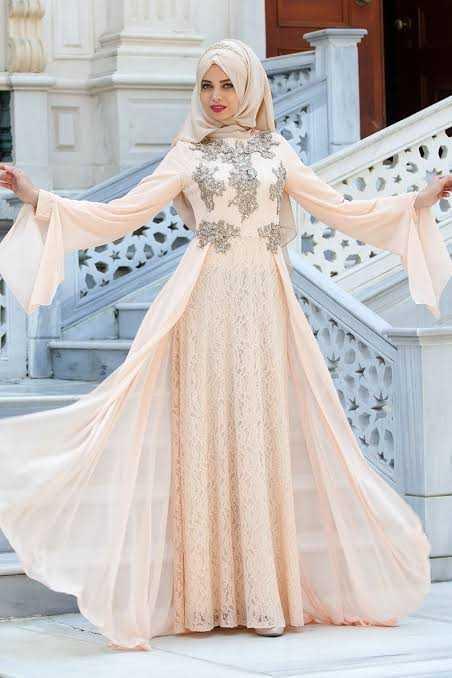 Sedanur Dantelli Tesettür Abiye Elbise Modelleri